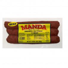 Manda Smoked Beef Sausage 1lb