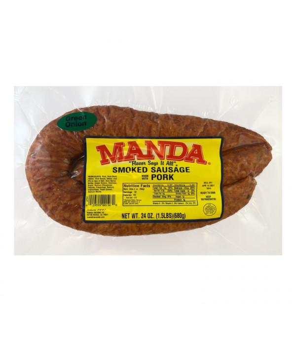 Manda Green Onion Sausage 24oz