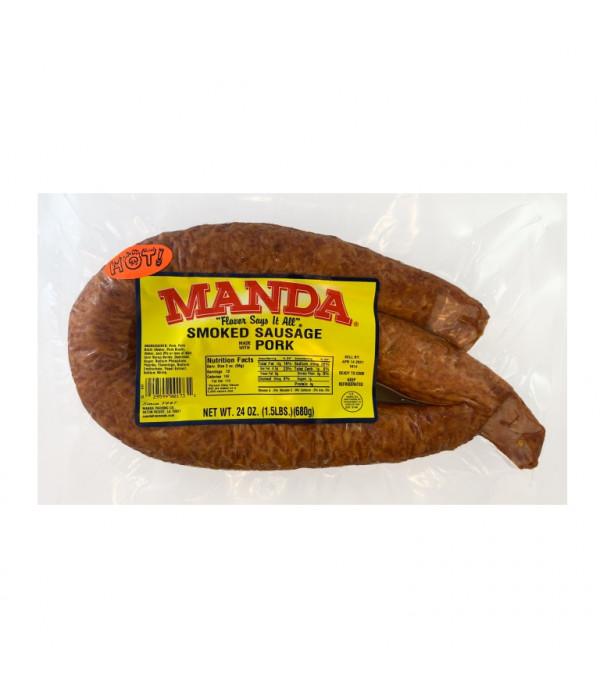Manda Hot Sausage 24oz